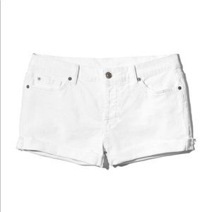 Seven for all mankind white rolled cuff shorts